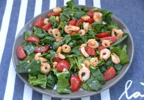 Салат со шпинатом и креветками - фото шаг 5