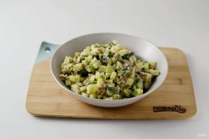 Салат с шампиньонами жареными - фото шаг 7