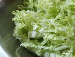 Салат из пекинской капусты с копченой колбасой - фото шаг 3