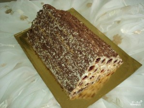 """Торт """"Монастырская изба"""" с вишней - фото шаг 12"""