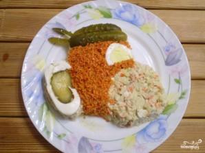 "Салат ""Обезьянка"" с корейской морковкой - фото шаг 10"