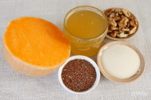 Каша из тыквы с семенами льна и орехами - фото шаг 1