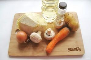 Капуста с грибами и картошкой - фото шаг 1