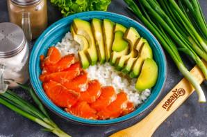 Боул с лососем и авокадо - фото шаг 5