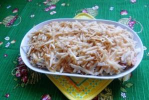 Салат с копченой горбушей - фото шаг 4