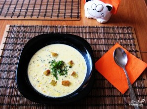 Сырный суп Тануки - фото шаг 4