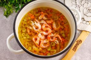Крем-суп из сельдерея с креветками
