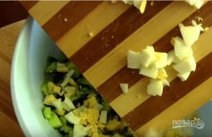 Окрошка на кефире с горчицей - фото шаг 2