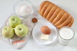 Яблочная шарлотка с хлебом - фото шаг 1