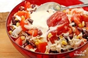 Диетический салат с фасолью - фото шаг 4