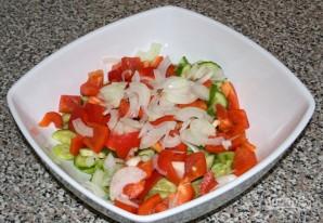"""Греческий салат"" с брынзой - фото шаг 3"
