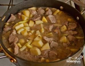 Тушеная фасоль с мясом - фото шаг 4
