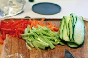 Овощные роллы - фото шаг 2