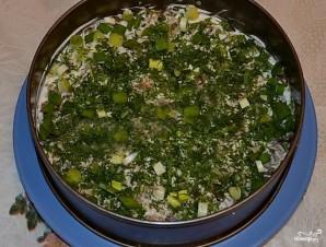 Салат с копченой курицей и грибами слоями - фото шаг 4