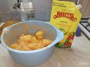 """Лучший рецепт картофеля """"по-деревенски"""" с майонезом - фото шаг 3"""