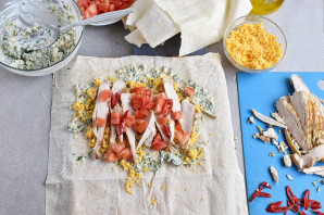 Закуска из лаваша с курицей - фото шаг 6