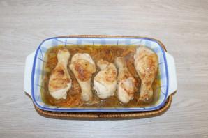 Куриные ножки с гречкой в духовке - фото шаг 9