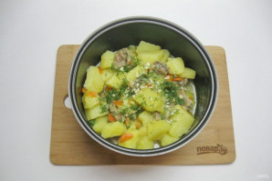 Желудки с картофелем в мультиварке - фото шаг 8