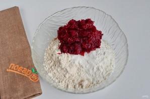 Свекольно-кунжутное печенье - фото шаг 2