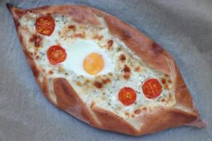 Пиде с сыром и яйцом - фото шаг 10