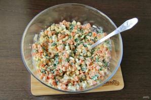 Салат из моркови с зеленым луком - фото шаг 6
