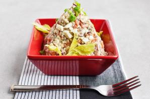 Салат из сайры консервированной - фото шаг 5