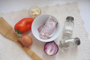 Салат с кальмарами и болгарским перцем - фото шаг 1