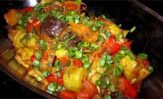 Тушеные овощи в утятнице - фото шаг 9