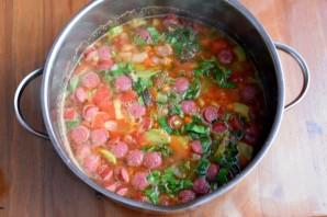 Зимний фасолевый суп с колбасками - фото шаг 8