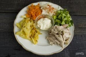 """Вкусный салат """"Сделай сам"""" - фото шаг 7"""