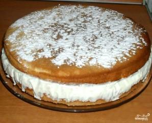 Бисквитный торт с творогом - фото шаг 6
