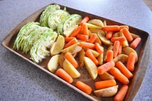Картофель с капустой в духовке - фото шаг 5