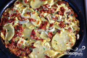 Тортильяс с салями и сыром - фото шаг 6
