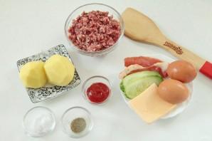 "Бургер на завтрак ""Башня на рассвете"" - фото шаг 1"