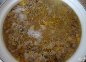 Сырный суп с вешенками - фото шаг 3
