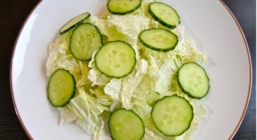 Овощной салат с куриной грудкой - фото шаг 2