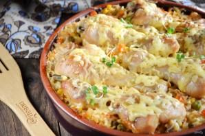 Куриные ножки, запеченные с рисом и овощами - фото шаг 9