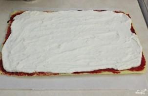Рулет бисквитный с ягодами - фото шаг 14