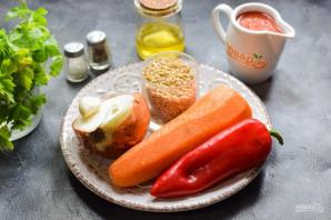 Овощной салат с перловкой на зиму