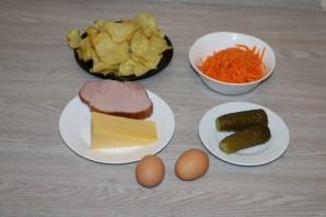 Салат с чипсами и корейской морковкой - фото шаг 1