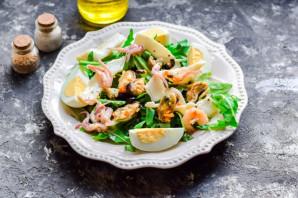 Салат с морским коктейлем и рукколой - фото шаг 4