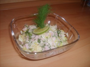 Салат из сельдерея и ветчины - фото шаг 3