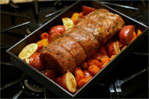 Свинина, запеченная с овощами - фото шаг 6