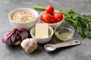Овсяная каша с помидорами и сыром - фото шаг 1
