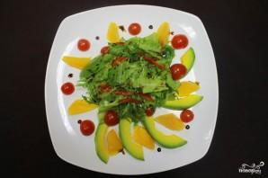 Салат с авокадо и апельсинами - фото шаг 8