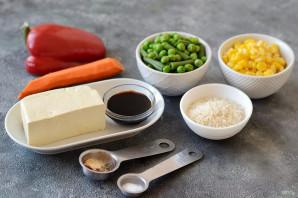 Рис с тофу и овощами - фото шаг 1
