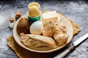 Салат с курицей и плавленным сыром - фото шаг 1