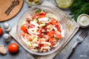 Салат с нутом и тунцом - фото шаг 9