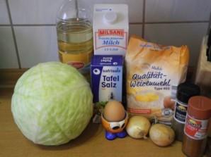 Блинчики с капустой и яйцом   - фото шаг 1