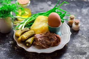 Картофельный салат с говядиной - фото шаг 1